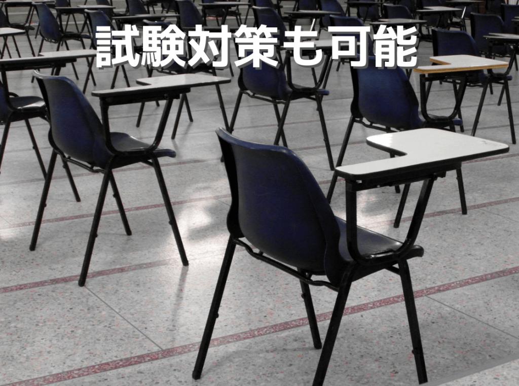 試験対策も可能